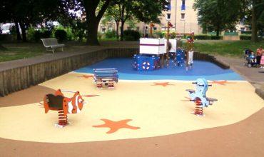 aménagement création d'aires de jeux au parc de la mairie - hellemmes