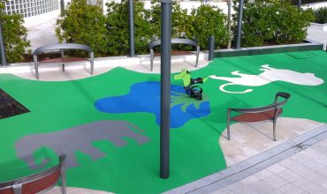 aménagement création d'aires de jeux jardin Saint honoré - Monaco