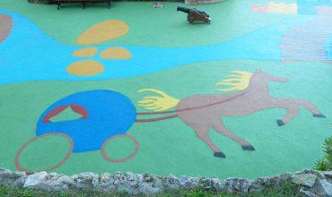 fourniture et pose de sol amortissant au jardin sainte barbe - monaco
