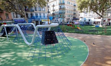 aménagement création d'aires de jeux Square Notre dame des anges - Nice